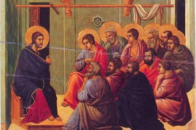 Jesús enseña a sus discipulos